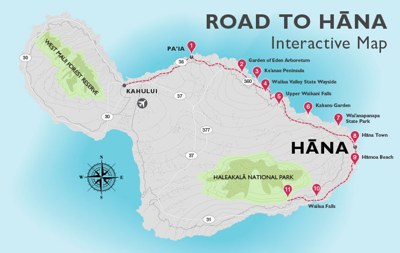 Maui Resort Travaasa Experiential Hana – Maui Tourist Attractions Map